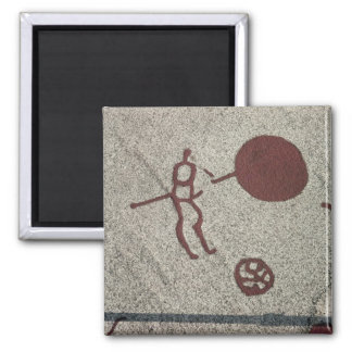 Male figure with the sun refrigerator magnet