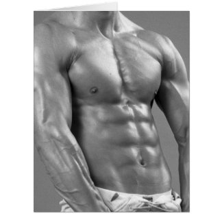Male Fitness Model & Football Player On Card