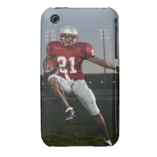 Male football player carrying football iPhone 3 cases