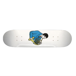 Male French Horn Player Blue Suit Skateboard Deck