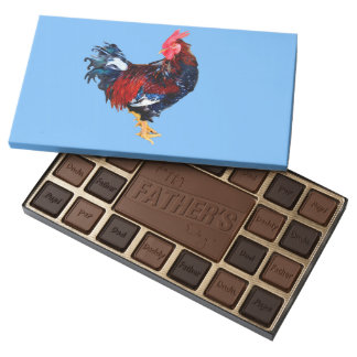 male gallinaceous bird assorted chocolates