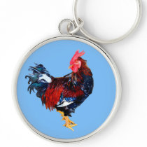 male gallinaceous ,rooster keychain