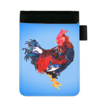 male gallinaceous ,rooster mini padfolio
