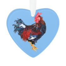 male gallinaceous ,rooster ornament