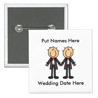 Male Gay Wedding To Customize Button