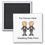 Male Gay Wedding To Customize Fridge Magnets