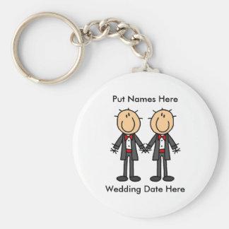Male Gay Wedding To Customize Keychain