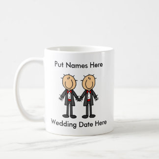 Male Gay Wedding To Customize Mug
