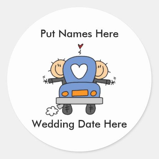 Male Gay Wedding To Customize Sticker