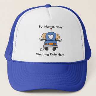 Male Gay Wedding To Customize Trucker Hat