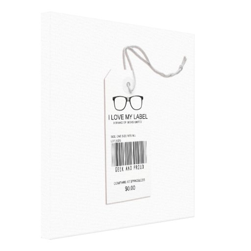 Male Geek Tag Stretched Canvas Prints