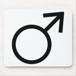 Male Gender Symbol Mouse Pad