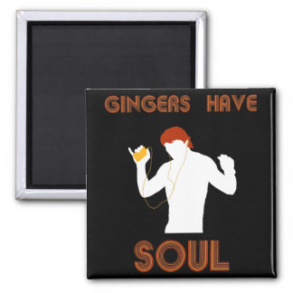 Male Gingers Have Soul 2 Inch Square Magnet