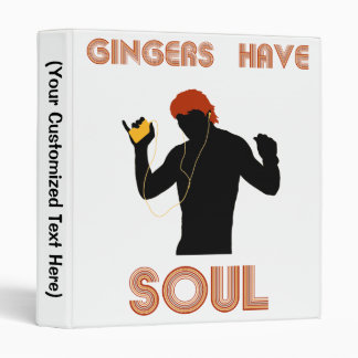 Male Gingers Have Soul 3 Ring Binders