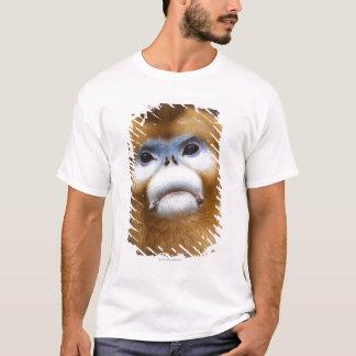 Male Golden Monkey Pygathrix roxellana, portrait T-Shirt