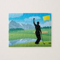 Male Golfer Design Jigsaw Puzzle