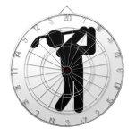 Male Golfer - Golf Symbol Dart Board