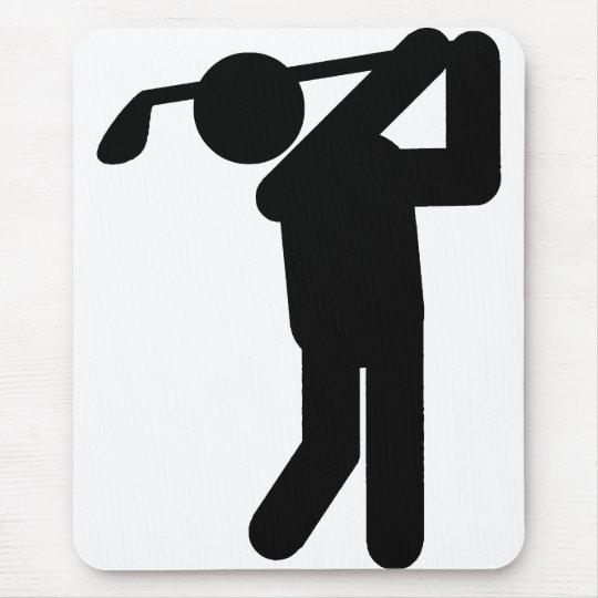 Male Golfer - Golf Symbol Mouse Pad
