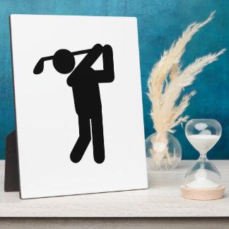 Male Golfer - Golf Symbol Display Plaques
