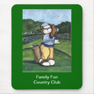 Male Golfer Mouse Pad