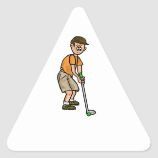 Male Golfer Name Tag Stickers