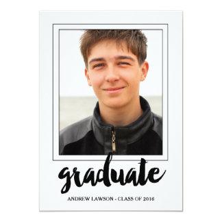 Male Graduate   Photo Graduation Party Invite
