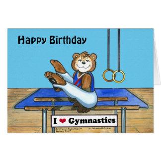 Male Gymnast Birthday Card