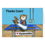 Male Gymnast Greeting Card for Coach