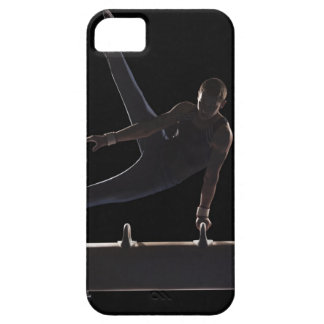 Male gymnast on pommel horse iPhone 5 cases