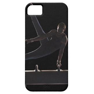 Male gymnast on pommel horse iPhone 5 case
