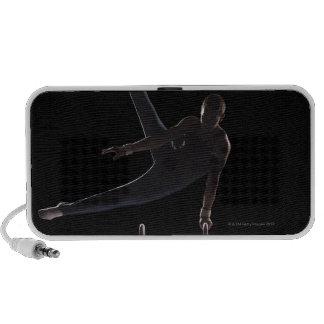 Male gymnast on pommel horse mp3 speakers