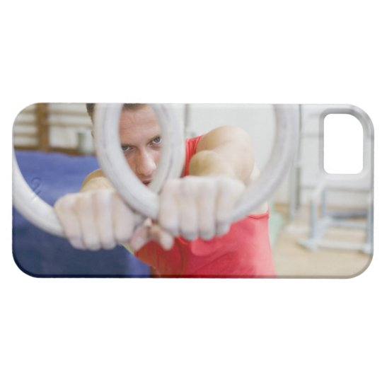 Male gymnast on rings iPhone SE/5/5s case