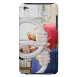 Male gymnast on rings iPod touch cases