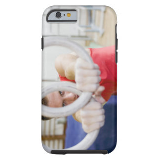 Male gymnast on rings tough iPhone 6 case