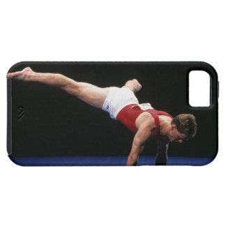 Male gymnast peforming a routine in the floor iPhone 5 cover