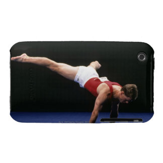 Male gymnast peforming a routine in the floor iPhone 3 Case-Mate case