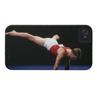 Male gymnast peforming a routine in the floor iPhone 4 cover
