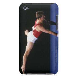 Male gymnast peforming a routine in the floor iPod Case-Mate case