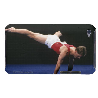 Male gymnast peforming a routine in the floor iPod touch case