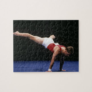 Male gymnast peforming a routine in the floor jigsaw puzzle