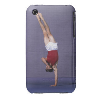 Male gymnast performing on the floor exercise 2 iPhone 3 cover