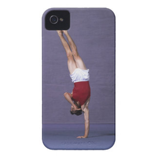 Male gymnast performing on the floor exercise 2 iPhone 4 Case-Mate case