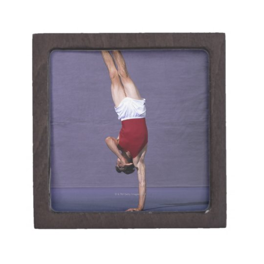 Male gymnast performing on the floor exercise 2 keepsake box
