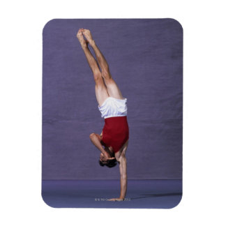 Male gymnast performing on the floor exercise 2 rectangular photo magnet