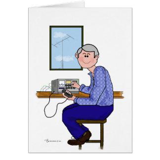 Male Ham Operator - Gray Hair Greeting Card