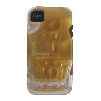 Male hand holding a cold mug of light beer iPhone 4 covers