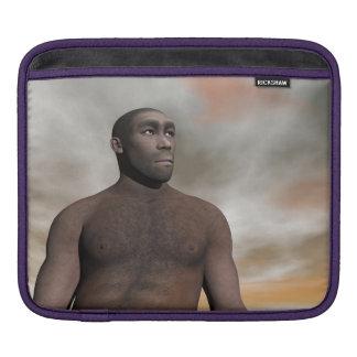 Male homo erectus - 3D render Sleeve For iPads