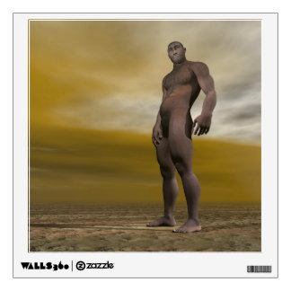 Male homo erectus - 3D render Wall Sticker