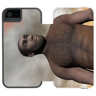 Male homo erectus - 3D render Wallet Case For iPhone SE/5/5s
