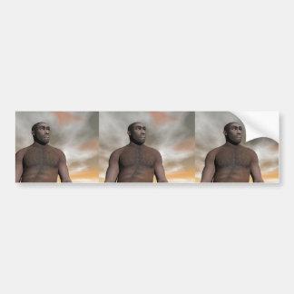 Male homo erectus bumper sticker